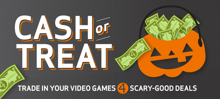 Trade in your Video Games and more 4 scary good deals!