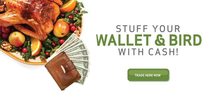 Thanksgiving stuff wallet and bird